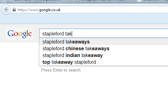 Stapleford Fast Food Popular Keywords